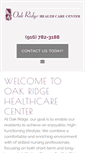Mobile Preview of oakridgehealthcare.net