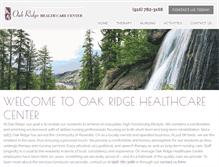 Tablet Preview of oakridgehealthcare.net